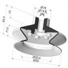 Bellows Suction Cup 1.5 folds Series 1, Ø 53 mm