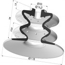 Bellows Suction Cup 2.5 folds Series 2, Ø 120 mm