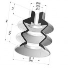 Bellows Suction Cup 2.5 folds Series 2, Ø 41 mm