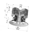 Flat Suction Cup Series 90, Ø 20 mm