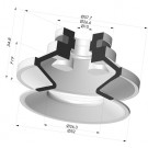 Bellows Suction Cup 1.5 folds Series 91, Ø 50 mm