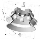 Bellows Suction Cup 1.5 folds Series 91, Ø 75 mm