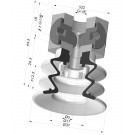 Bellows Suction Cup 2.5 folds Series 96, Ø 35 mm