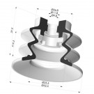 Bellows Suction Cup 2.5 folds Series 96, Ø 52 mm