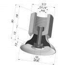 Flat suction cup series PFTF, Ø 30 mm