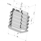 Oblong Suction Cup 4.5 Folds Series 4BO, 86x42 mm