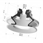 Bellows Suction Cup 1.5 folds Series 91, Ø 40 mm