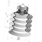 Bellows Suction Cup 4.5 folds Series 92, Ø 50 mm