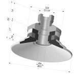 Flat Suction Cup Series 9, Ø 50 mm