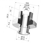 Separable Male Fitting 3/8G