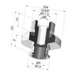 Separable Male Fitting 3/8G - with Filter