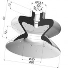 Bellows Suction Cup 1.5 folds Series 1, Ø 85 mm