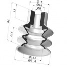 Bellows Suction Cup 2.5 folds Series 2, Ø 31.8 mm