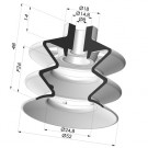 Bellows Suction Cup 2.5 folds Series 2, Ø 52 mm