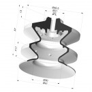 Suction cup 2.5 bellows Series 370, Ø 61 mm