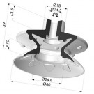 Bellows Suction Cup 1.5 folds Series 8, Ø 60 mm