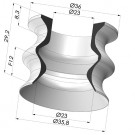 Bellows Suction Cup 1.5 folds Series 8, Ø 35.8 mm