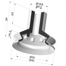 Bellows Suction Cup 1.5 folds Series 8, Ø 45 mm