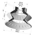 Bellows Suction Cup 1.5 folds Series 8, Ø 72 mm