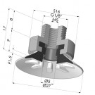 Flat Suction Cup Series 90, Ø 25 mm