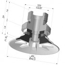 Flat Suction Cup Series 90, Ø 40 mm
