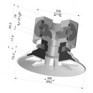 Flat Suction Cup Series 90, Ø 50 mm