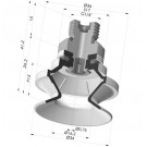 Bellows Suction Cup 1.5 folds Series 91, Ø 35 mm