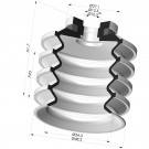 Suction cup 4.5 bellows series 92-2 Ø48.3