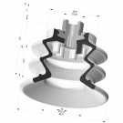 Bellows Suction Cup 2.5 folds Series 96C, Ø 70 mm