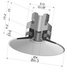Flat Suction Cup Series 9, Ø 30 mm