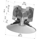 Flat Suction Cup Series 9, Ø 40 mm