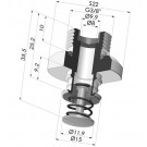 Separable Male Fitting 3/8G - with Check Valve