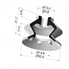 Suction cup 1.5 bellows series VCS 1, Ø 30.6 mm