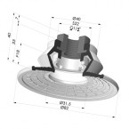 Bellows Suction Cup 1.5 folds Series 8R, Ø 85 mm