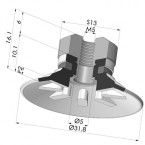 Flat Suction Cup Series 90, Ø 30 mm
