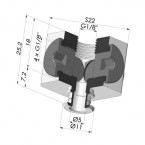 Separable Female Fitting 1/8G - with 5 Outputs