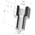 """Crimped Female Fitting G1/4"""""""